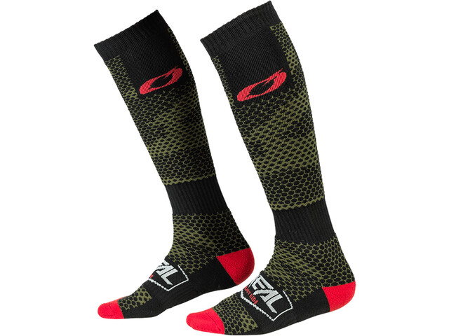 O'Neal Pro MX Chaussettes, covert-black/green